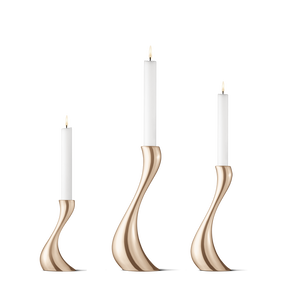 COBRA, candleholder set rosegold. 3 pack with small/medium and large.