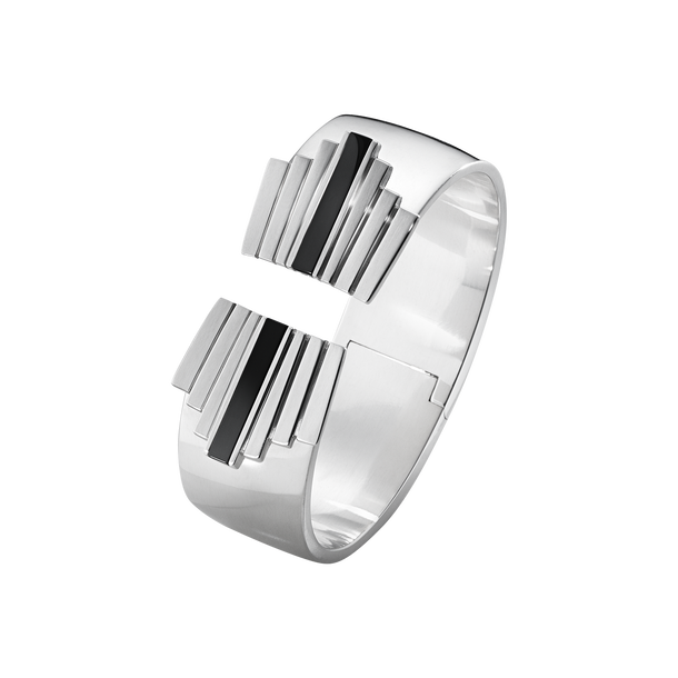 ARIA bangle - sterling silver and black onyx