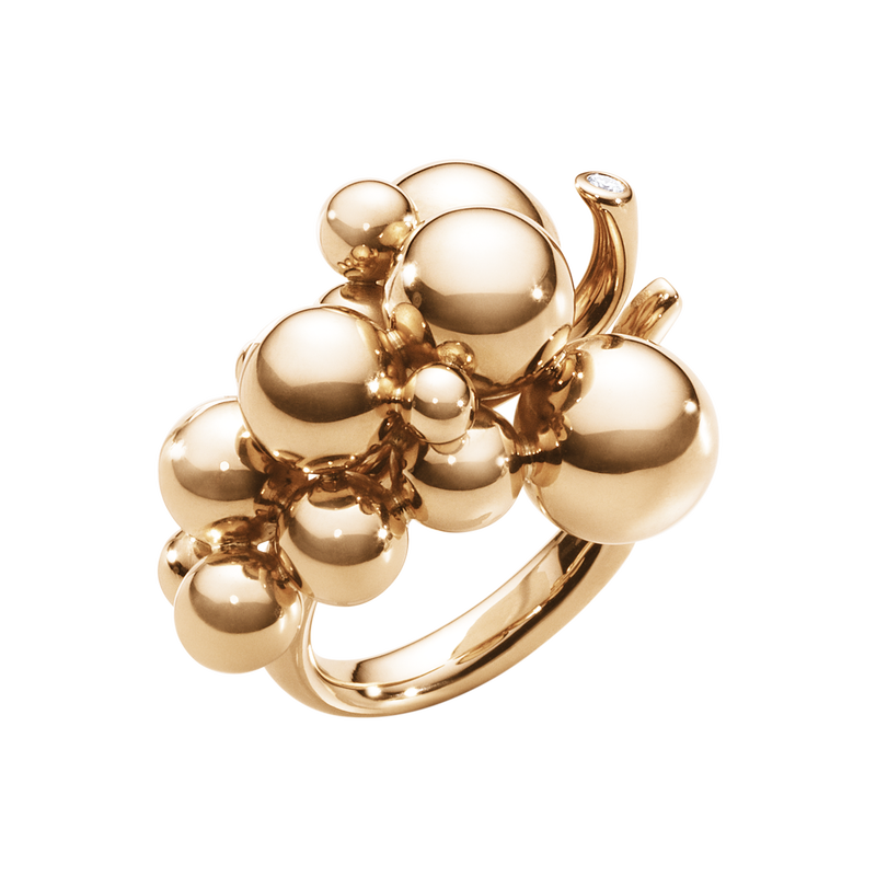 MOONLIGHT GRAPES ring - 18 kt. rose gold with brilliant cut diamond