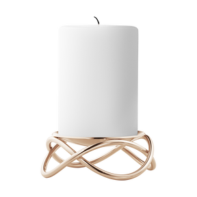 GLOW candleholder, 18kt. rosegold plated stainless steel