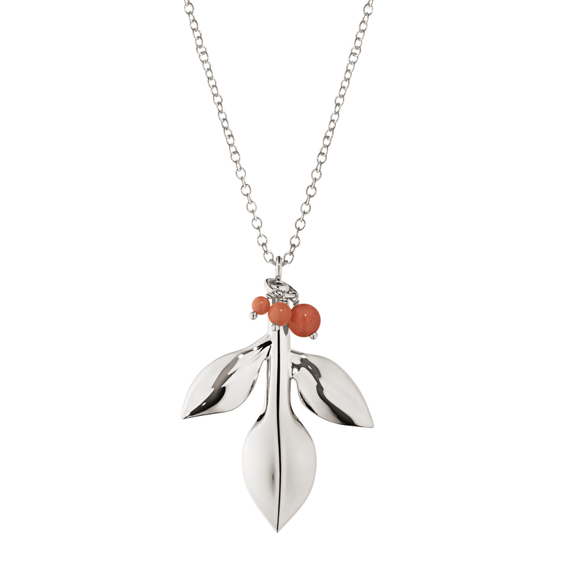 2016 Ornament Magnolia Leaf with Berries, palladium plated