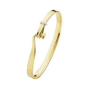TORUN bangle - 18 kt. yellow gold with brilliant cut diamonds