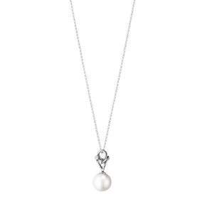 MAGIC pendant - 18 kt. white gold with pearl and diamonds