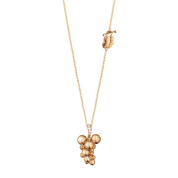 MOONLIGHT GRAPES pendant - 18 kt. rose gold with brilliant cut diamonds