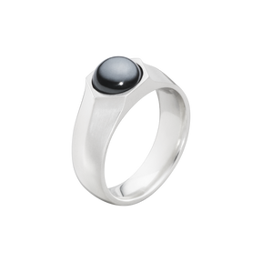 ART DECO ring - sterling silver with hematite