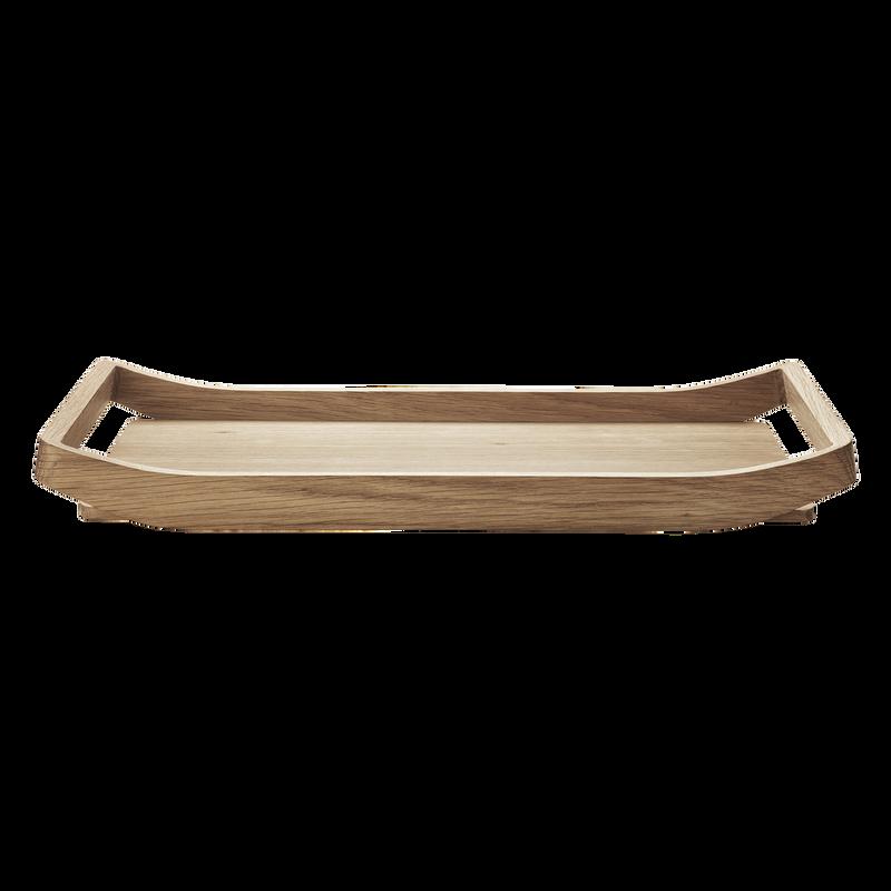 Barbry Stylish Curved Wooden Tray In Oak Georg Jensen