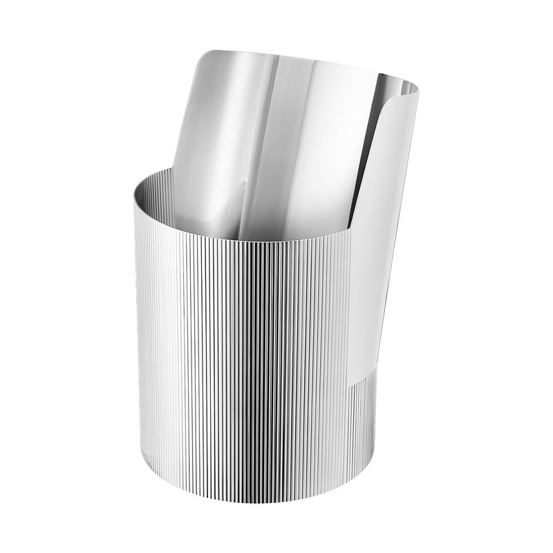 URKIOLA vase, stainless steel, large