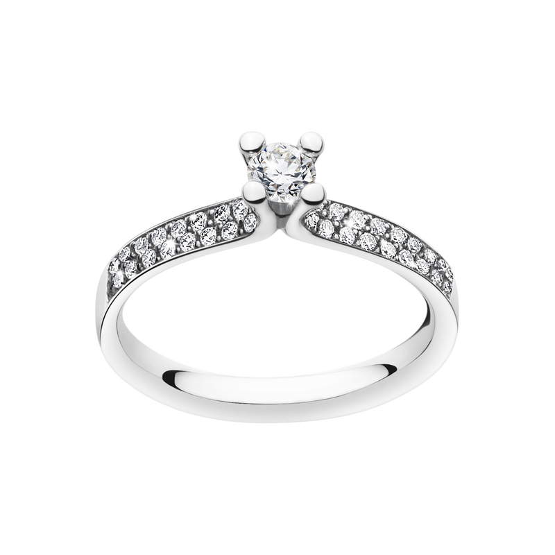 MAGIC ring - 18 kt. white gold with brilliants