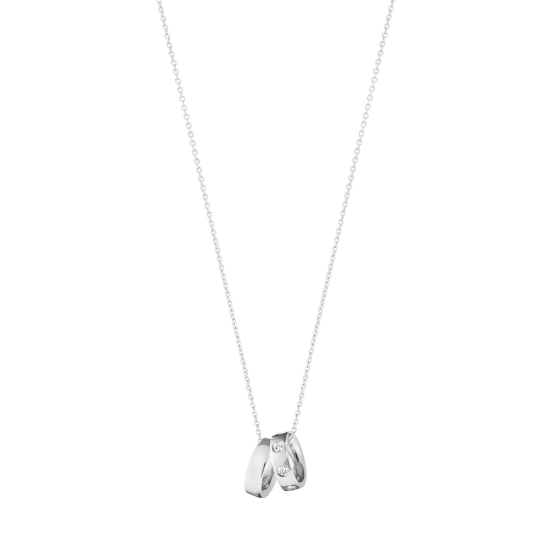 MAGIC charm pendant - 18 kt white gold with diamonds