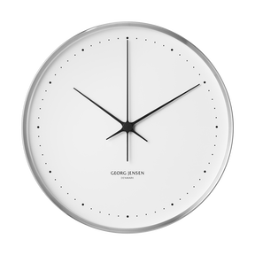 HENNING KOPPEL wall clock, 40 cm - stainless steel