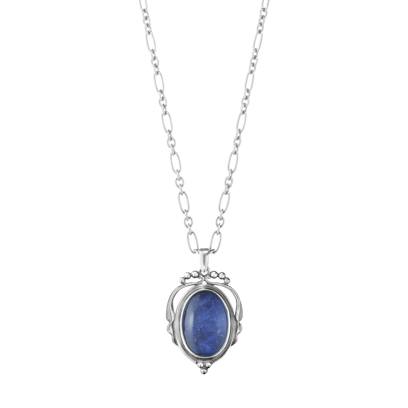 2017 HERITAGE pendant - oxidised sterling silver with sodalite and rock crystal