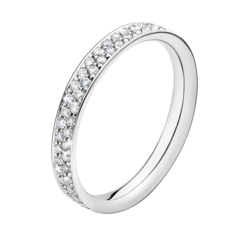 MAGIC ring - platinum with pavé set brilliants