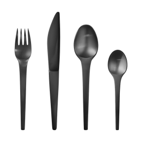 CARAVEL cutlery set - black PVD, 4 pcs. (11, 12, 13, 31)