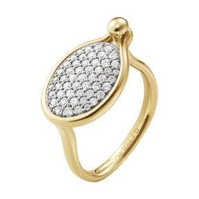 SAVANNAH ring – 18 kt. gult gull med diamanter, medium