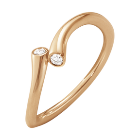 MAGIC ring - 18 kt. rose gold with brilliant cut diamonds