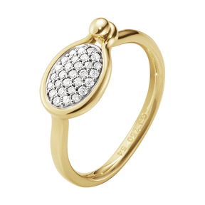 SAVANNAH ring - 18 kt. yellow gold with diamonds, small
