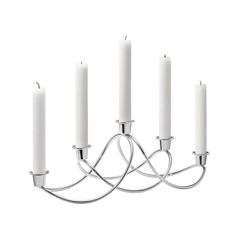 HARMONY candleholder, stainless steel