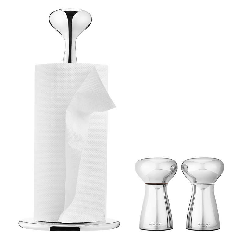 ALFREDO table set, kitchen roll holder & salt & pepper