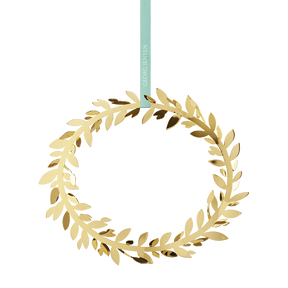2016 Wall Wreath Magnolia Leaf, gold plated