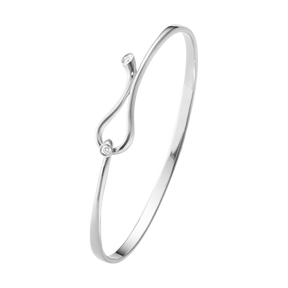 MAGIC bangle - 18 kt. white gold with brilliant cut diamonds