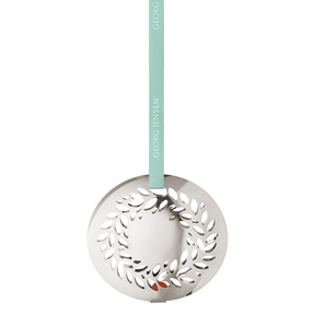 2016 Christmas Mobile Magnolia Wreath, palladium plated