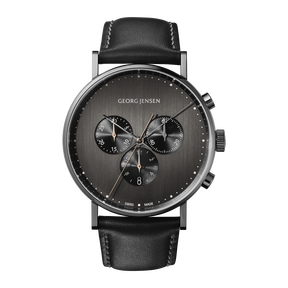 <p>KOPPEL - 41 mm, Quartz, dark grey dial, black leather strap<br /><br /></p>