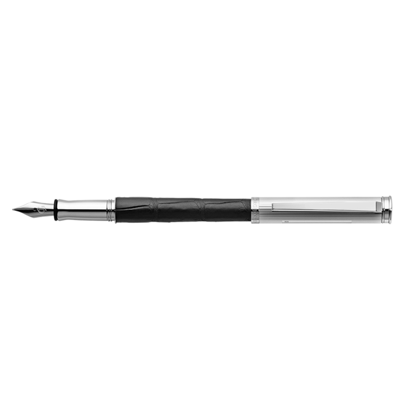 BESPOKE ALLIGATOR fountain pen, black