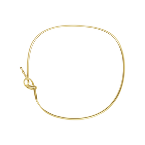 FORGET-ME-KNOT neckring - 18 kt. yellow gold
