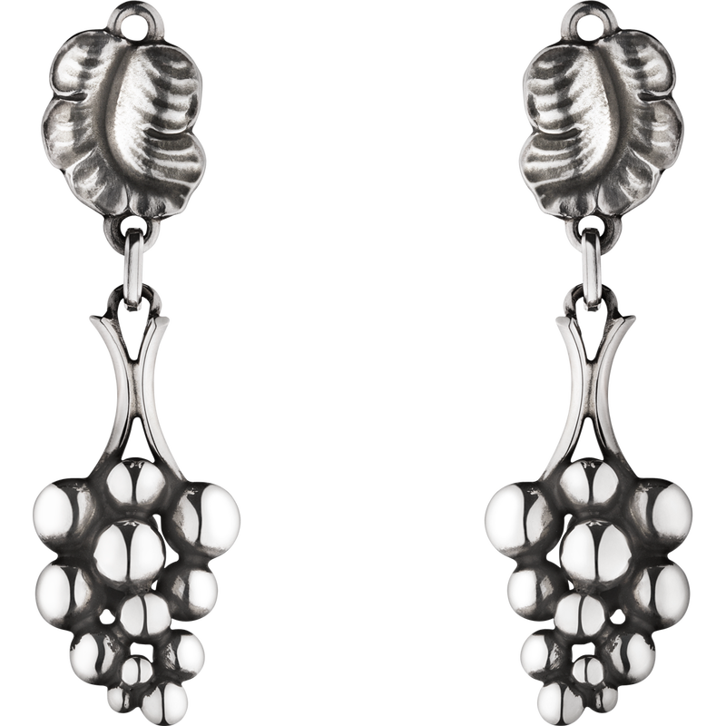 MOONLIGHT GRAPES sterling silver earclips 40