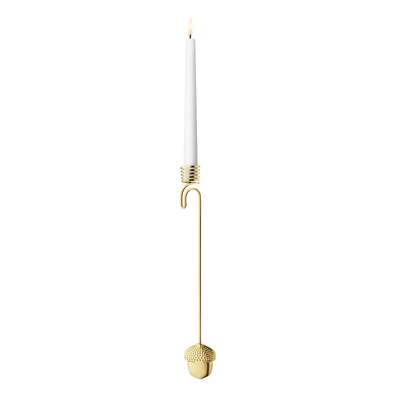 2018 Candleholder Acorn - gold plated