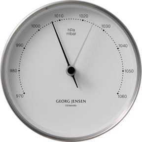 KOPPEL 10 cm barometer, stainless steel with white dial