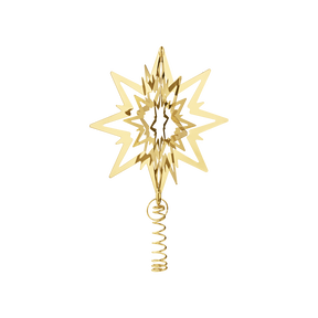 STAR for the Christmas tree, medium, gold plated