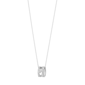 Fusion Open Pendant 18 Kt White Gold With Full Pave 0 43 Ct