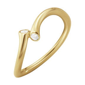 MAGIC ring - 18 kt. yellow gold with brilliant cut diamonds