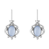 2019 HERITAGE earrings - sterling silver with blue chalcedony