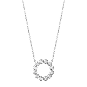 AURORA pendant - 18 kt white gold with brilliant cut diamonds