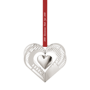 2019 Christmas Mobile, Heart - palladium plated | Georg Jensen