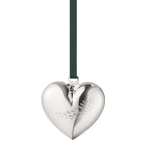 2018 Christmas Heart - palladium plated