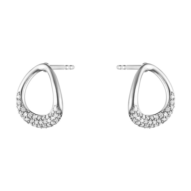 OFFSPRING earrings - sterling silver with diamonds 0.19 ct