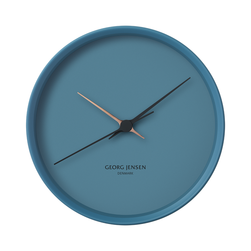 KOPPEL 22 cm wall clock, blue
