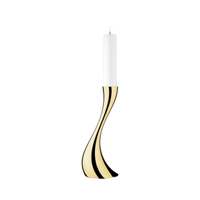 COBRA floor candleholder, small, gold plated