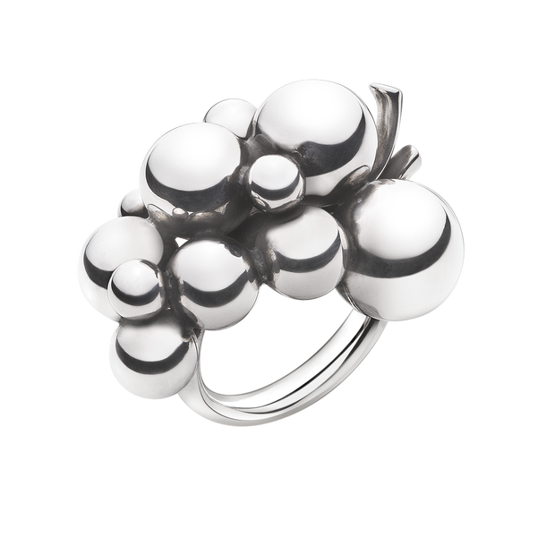 MOONLIGHT GRAPES ring - sterling silver, large