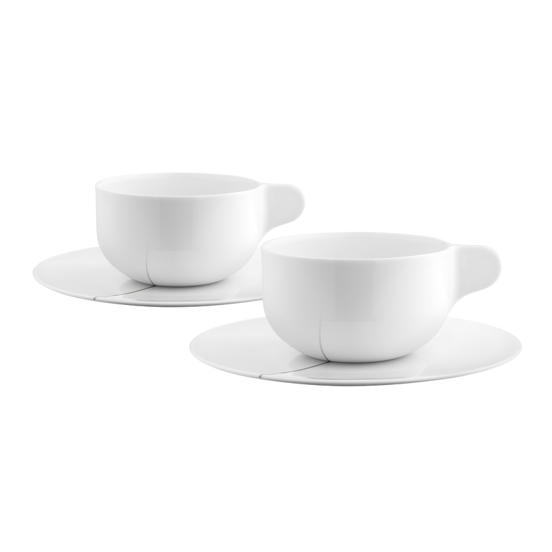 TEA WITH GEORG Tea cup with saucer, large, 2 pcs.