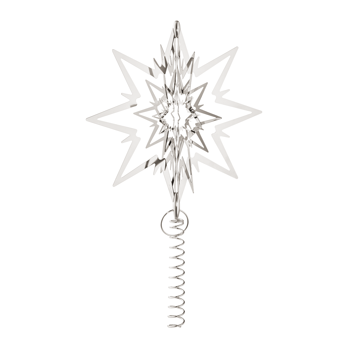 Star For Tree Part - 28: STAR For The Christmas Tree, Large, Palladium Plated