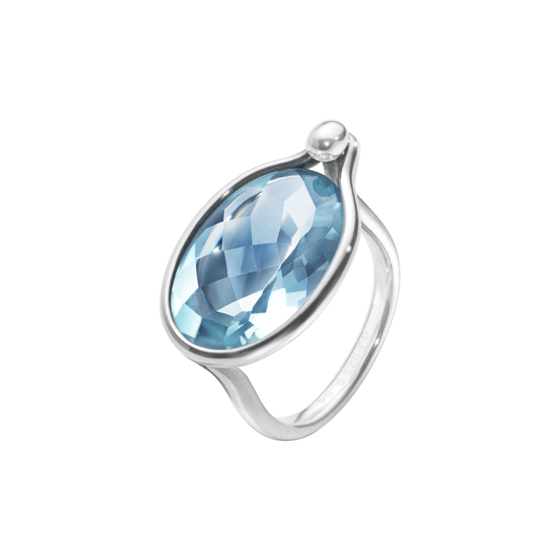 SAVANNAH ring - sterling silver with blue topaz