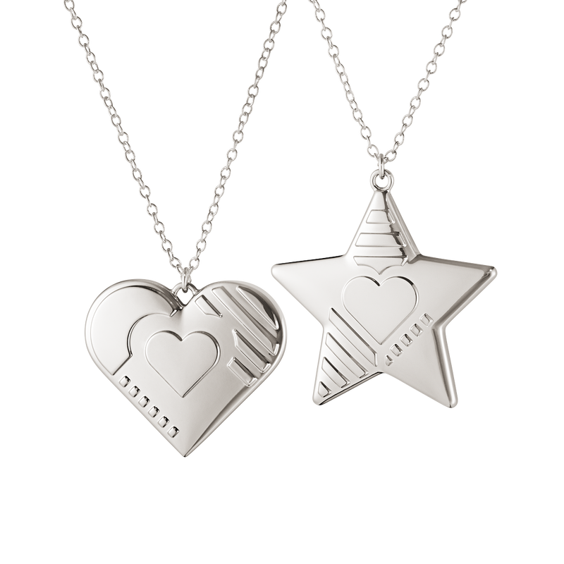 2019 Ornament set, Heart and Star
