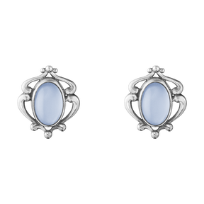 2019 HERITAGE earclips - sterling silver with blue chalcedony