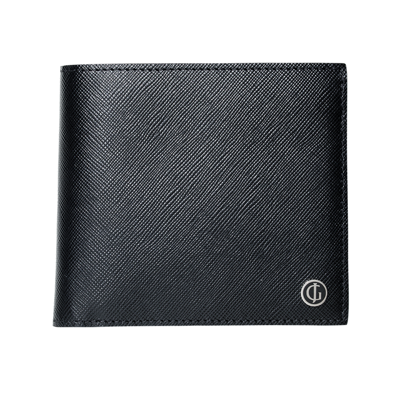 BUSINESS CLASSIC 4 card wallet with coin pocket, black