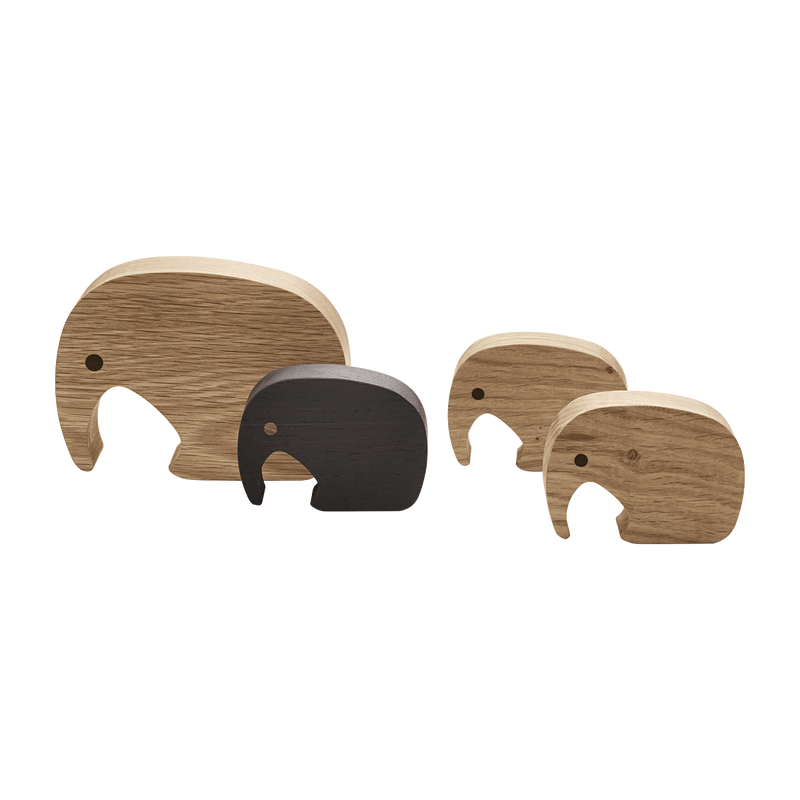 ELEPHANT figurine, 4 pcs