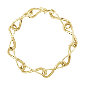 INFINITY bracelet - 18 kt. yellow gold with brilliant cut diamonds